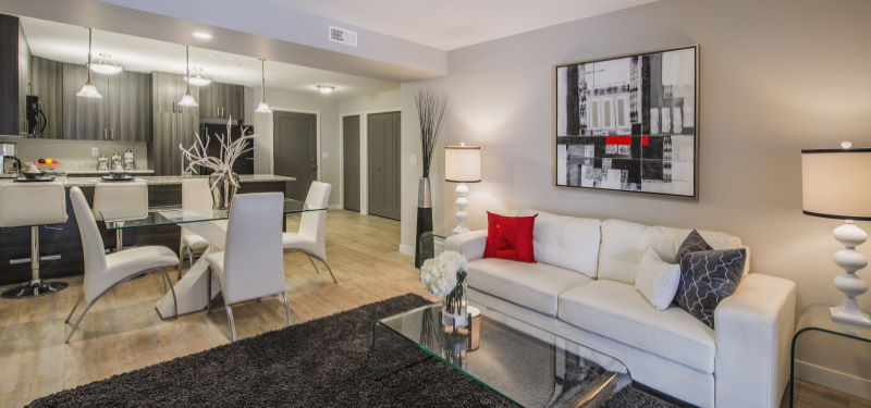 A look inside an Addison Square suite